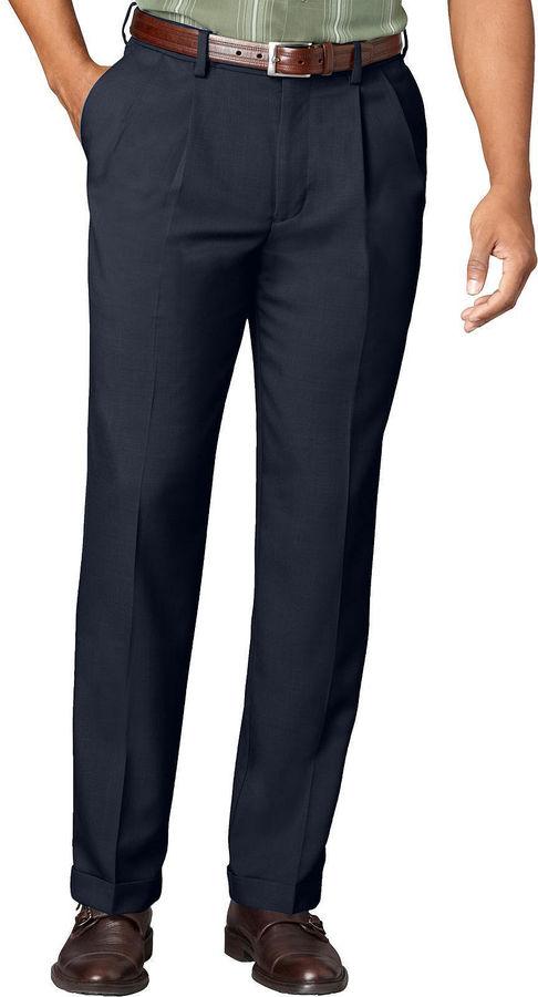 Van Heusen Men's No-Iron Extender Pleated Pants - Big & Tall