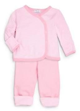 Splendid Baby's Two-Piece Striped Kimono Top & Pants Set