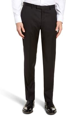 BOSS Lenon CYL Flat Front Solid Wool Trousers