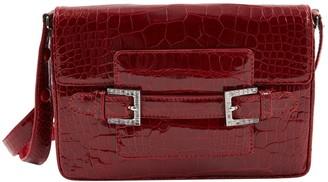 Fendi Vintage Red Crocodile Handbag