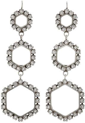 Isabel Marant Silver Triple Circle Drop Earrings