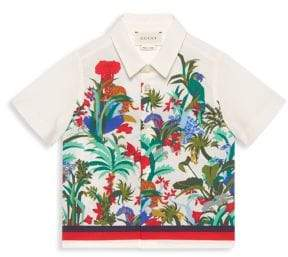 Baby's Floral Printed Button-Down
