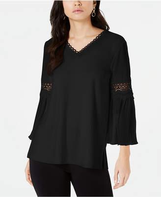 083e13df6cb984 Alfani Crochet-Trim Pleated-Sleeve Top
