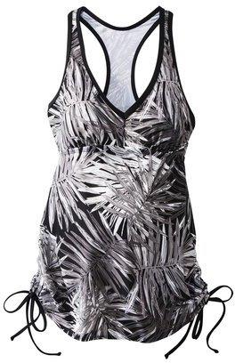 Liz Lange for Target® Maternity Racerback Tankini Swim Top - Gray/Black