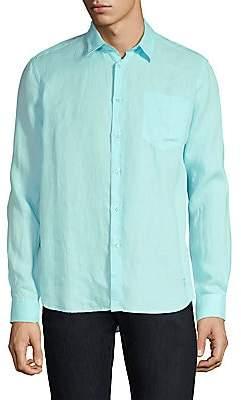 Vilebrequin Men's Caroubis Linen Button-Down Shirt