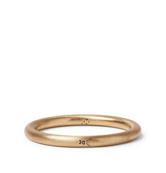 Le Gramme Le 3 Brushed 18-Karat Gold Ring - Men - Gold