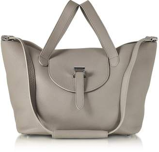 Meli-Melo Taupe Coimbra Leather Thela Medium Tote Bag