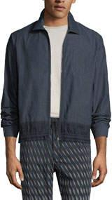 Men's Chambray Zip-Front Shirt Jacket