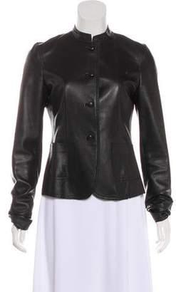 DKNY Brogue Leather Jacket