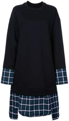 Juun.J oversized plaid sweatshirt