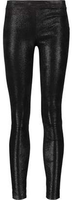 J Brand Edita Glittered Stretch-Leather Leggings