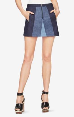 BCBGMAXAZRIA Judah Color-Blocked Skirt