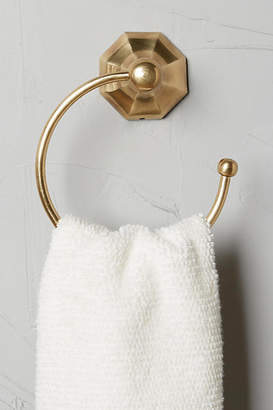 Anthropologie Brass Circlet Towel Ring