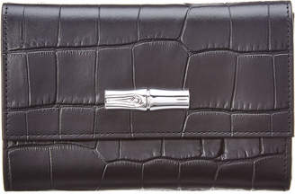 Longchamp Roseau Leather Compact Wallet