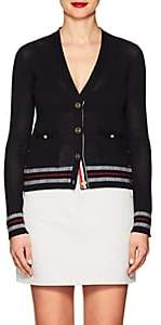 Thom Browne Women's Mesh-Knit Cotton Cardigan - Navy
