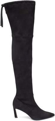 Stuart Weitzman 'Natalia' stretch suede thigh high boots