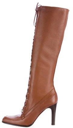 Michael Kors Lace-Up Knee-High Boots