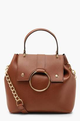 boohoo Large Ring & Chain Satchel Cross Body