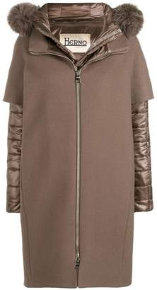 Herno padded cape coat