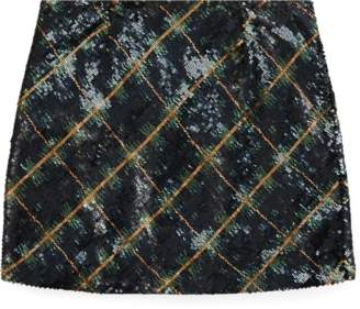 Ralph Lauren Plaid Sequinned Skirt