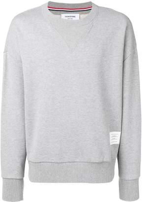Thom Browne oversized loopback sweatshirt grey