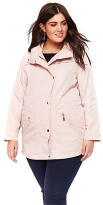 Evans Blush Zip Trim Coat