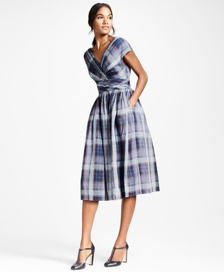 Brooks Brothers Plaid Linen Dress