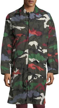 Valentino Camouflage Duster-Rain Jacket