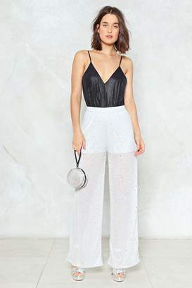 Nasty Gal Your Disco Needs You Glitter Pants