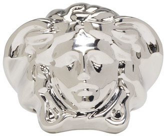 Versace Silver Medusa Ring $395 thestylecure.com