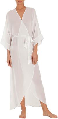 Jonquil Summer Chiffon Long Robe, Ivory