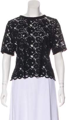 Blumarine Lace Button-Up Blouse