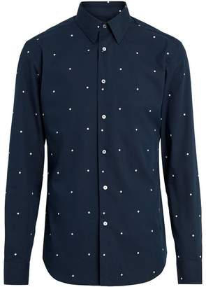 Burberry Slim Fit Polka Dot Cotton Poplin Shirt