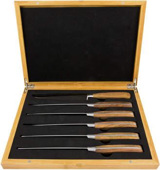 Laguiole By Louis Thiers 6 Piece Rose Wood Steak Knife Set