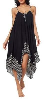 Jessica Simpson Polka Dot Handkerchief Dress Cover-Up