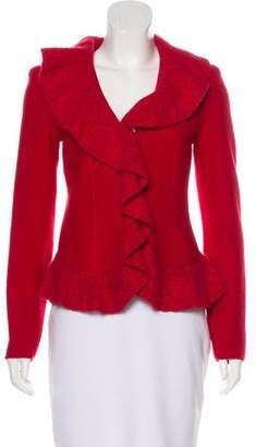 Armani Collezioni Structured Knit Cardigan