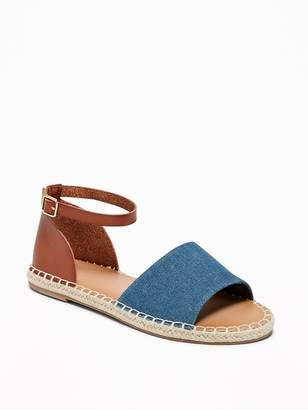 Old Navy Denim/Faux-Leather Espadrille Sandals for Women