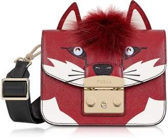 Furla Metropolis Jungle Fox Mini Crossbody Bag