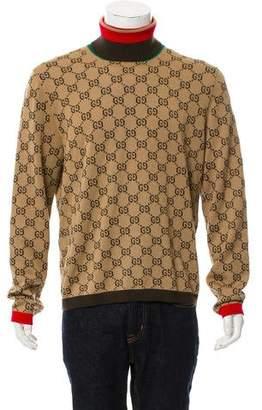 Gucci Web GG Wool Turtleneck Sweater w/ Tags