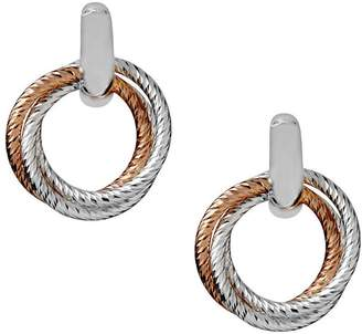 At Littlewoods Links Of London Sterling Silver And 18ct Rose Gold Aurora Two Tone Hoop Earrings