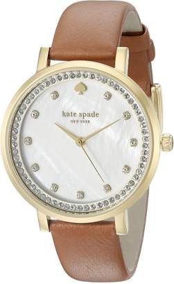 Kate Spade Women's Monterey Stainless Steel Watch with Brown Band