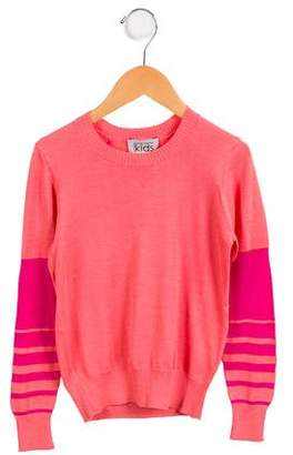 Autumn Cashmere Girls' Knit Colorblock Sweater w/ Tags