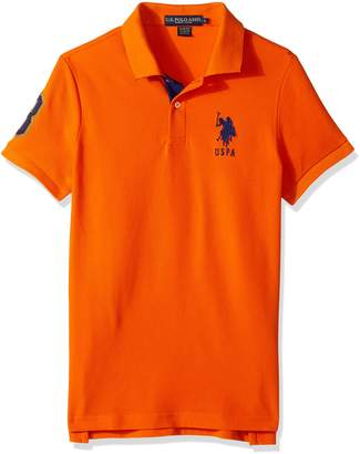 U.S. Polo Assn. Men's Slim Fit Solid Short Sleeve Pique Polo Shirt