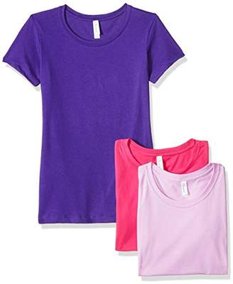 Blend of America Clementine Apparel Women's 3-Pack Short Sleeve T Shirt Easy Tag V Neck Soft Cotton Undershirts (1510)