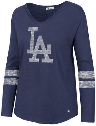 '47 Women's Los Angeles Dodgers Court Side Long Sleeve T-Shirt