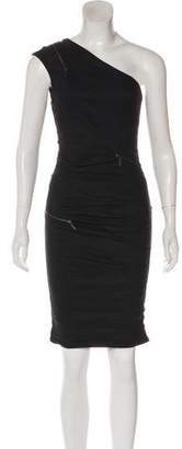 Nicole Miller One-Shoulder Knee-Length Dress w/ Tags