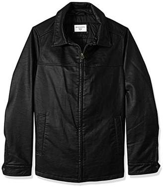 Dockers Size Smooth Lamb Faux Leather Laydown Collar