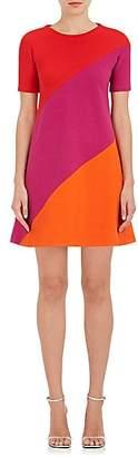 Lisa Perry WOMEN'S SWIRL WOOL A-LINE DRESS - PINK/ORANGE SIZE 0