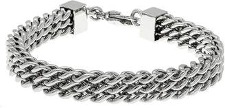 JCPenney FINE JEWELRY Mens Stainless Steel Multi-Row Chain Bracelet