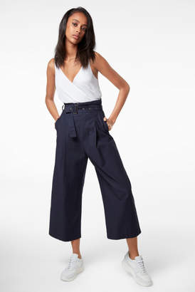 J Brand Via Pleat-Front Pant In Province Blue
